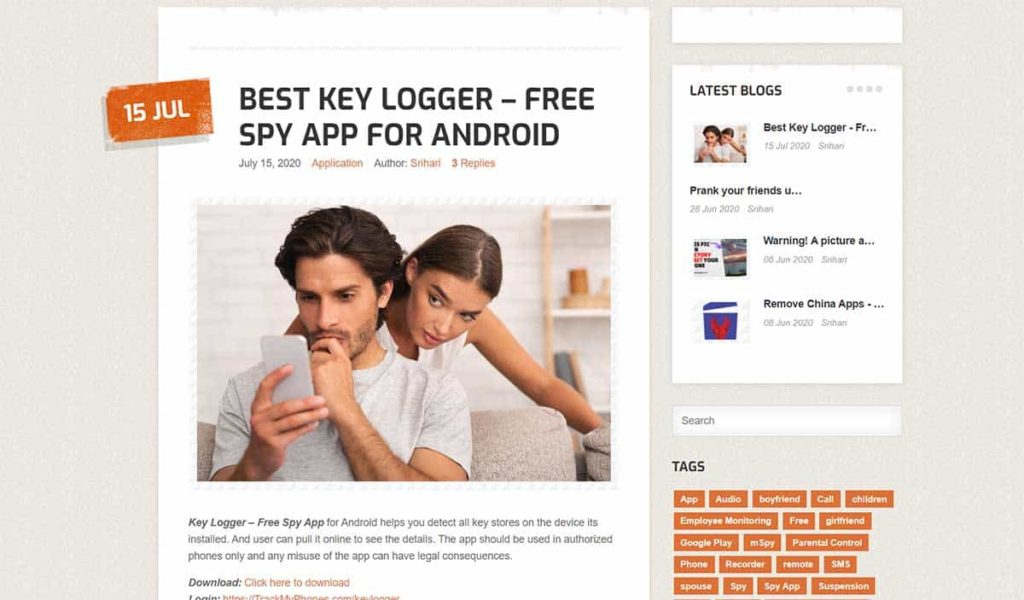 keyloggers for android - freekeyloggers