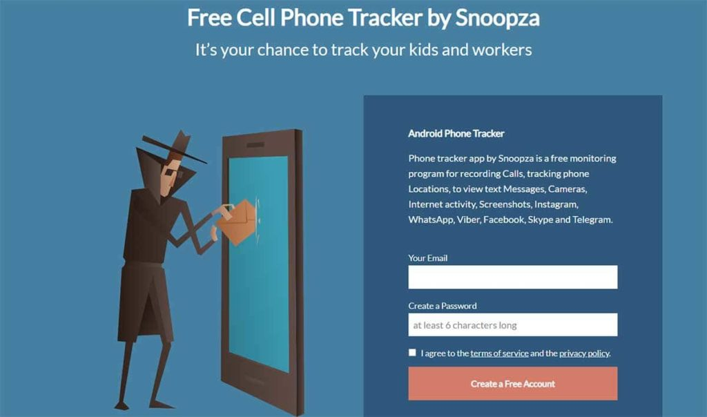 keyloggers for andriod - snoopza
